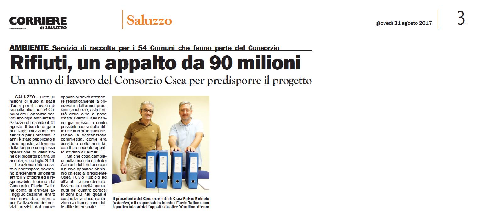 Corriere di Saluzzo del 31 agosto 2017