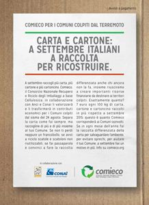 CARTA E CARTONE: DIFFERENZIARE DI PIU' PER AIUTARE I COMUNI COLPITI DAL TERREMOTO
